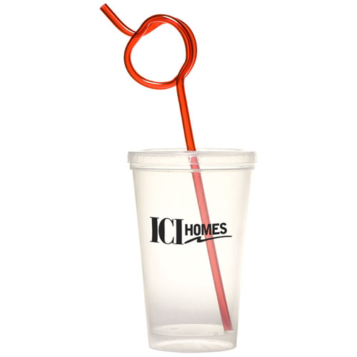 Promotional Apple Krazy Straw Sipper