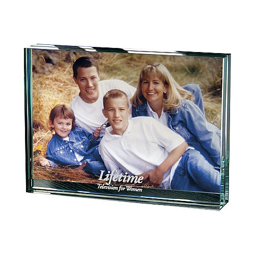 Promotional Atrium Glass Desk Frame - Large