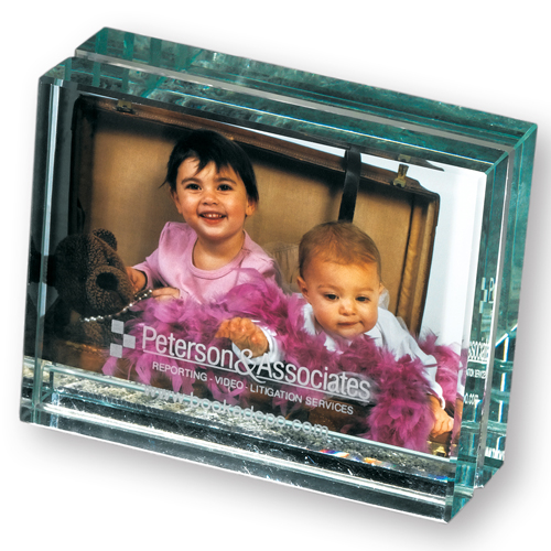 Promotional Atrium Glass Desk Frame - Mini