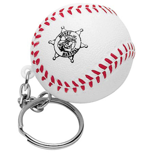 Promotional Baseball Key Chain Stress Reliever