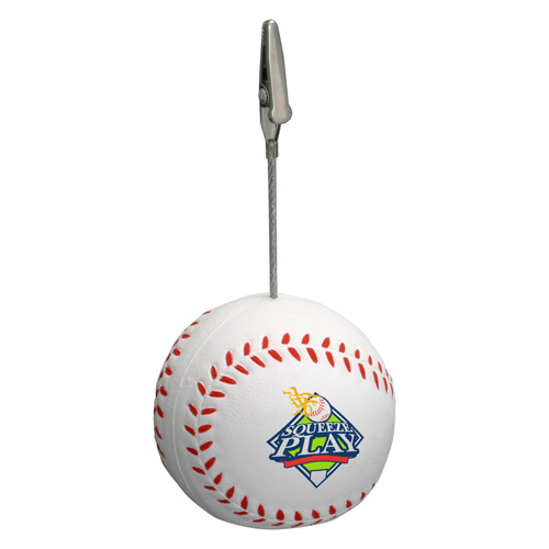 Promotional Baseball Memo Holder Stress Ball