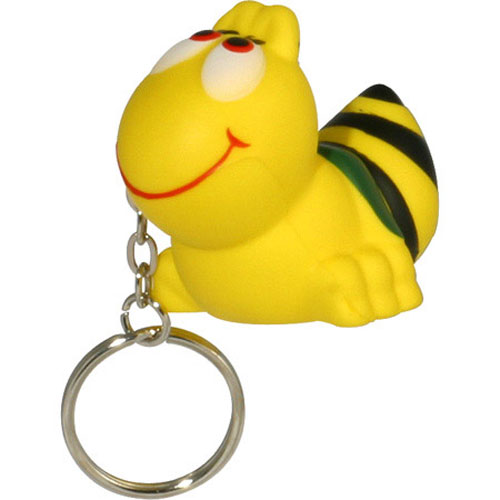 Promotional Bee Key Chain Stress Ball