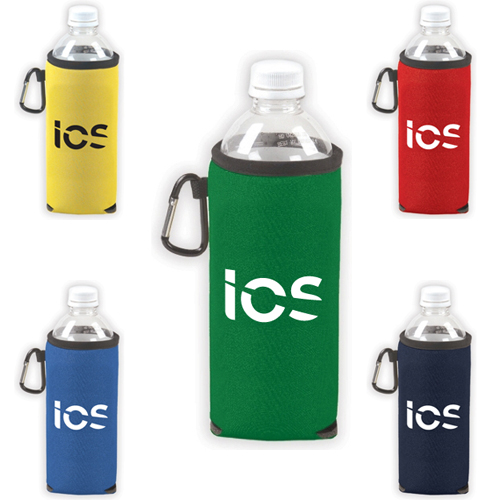 Promotional Bottled Water Holder with carabiner