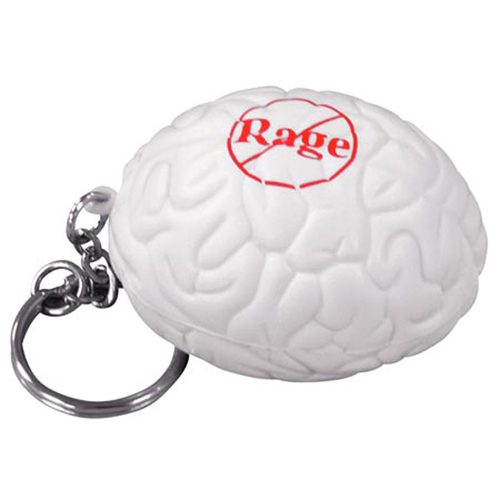 Promotional Brain Key Chain Stress Reliever