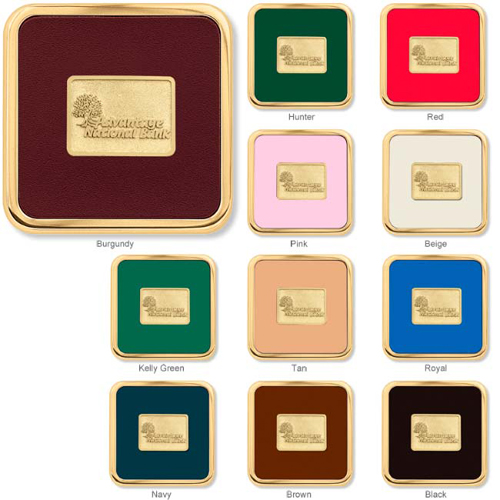 Promotional Brass Square Coaster Weight® Coasters
