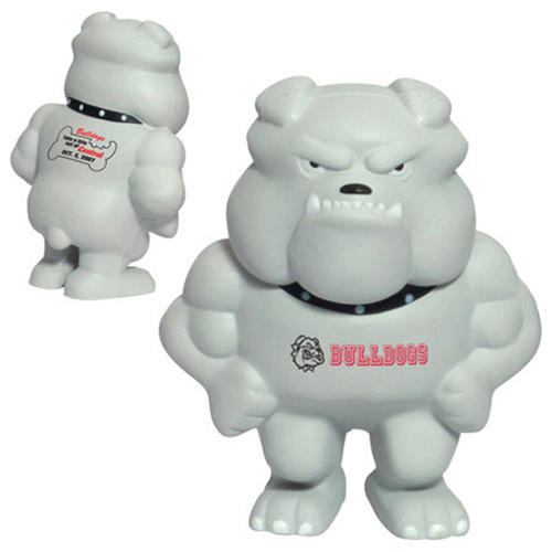Promotional Bulldog Mascot Stress Reliever