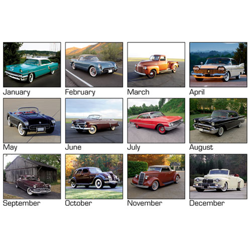 Promotional Cars of Yesteryear 2013 Wall Calendar