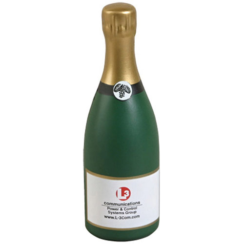 Promotional Champagne Bottle Stress Reliever
