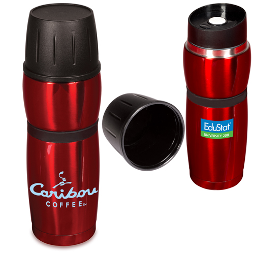 Promotional Click 'N Sip Stainless Thermal Bottle