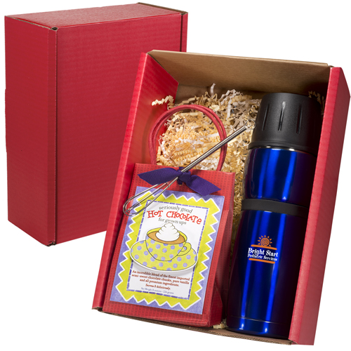 Promotional Click 'N Sip Thermal Bottle & Cocoa Gift Set
