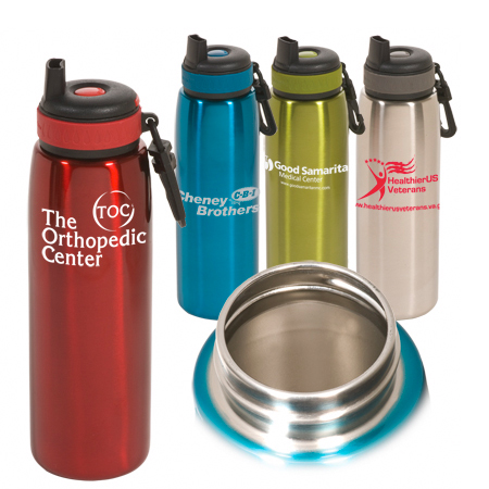 Promotional Click 'N Sip Stainless Bottle