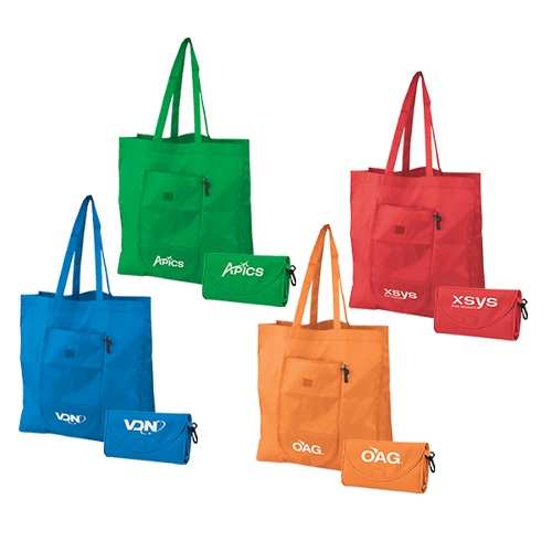 Promotional Clip-On Fold-Up Tote