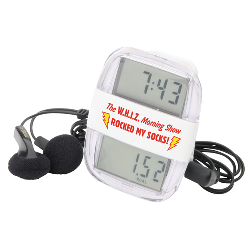 Promotional Clock Rocker Radio Pedometer