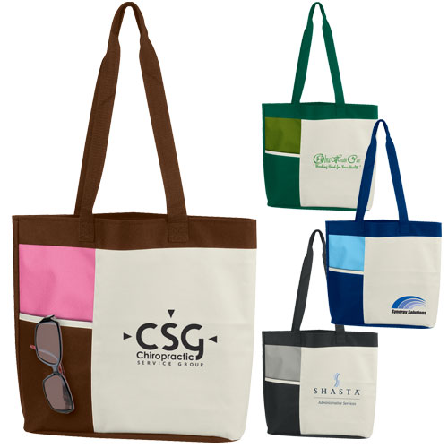 Promotional Color Block Tote