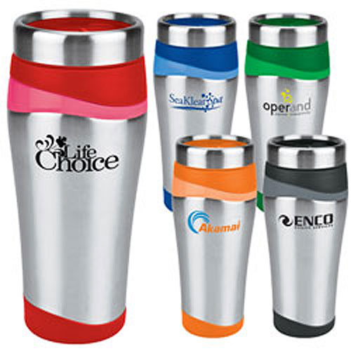 Promotional Color Touch Stainless Tumbler  16 oz
