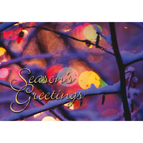 Promotional Colorful Season Holiday Card