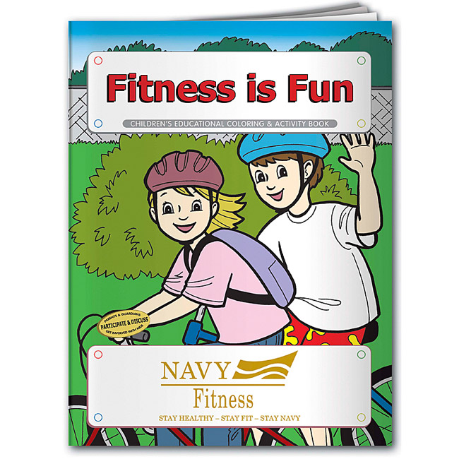 Promotional Fitness is Fun Coloring Book