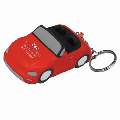 Promotional Convertible Car Stress Ball Key Chain