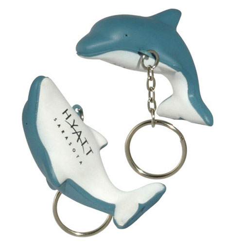Promotional Dolphin Key Chain Stress Ball