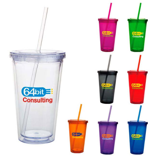 Promotional Double Wall Acrylic Tumbler - 16oz