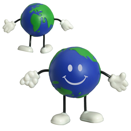 Promotional Earthball Figure Stress Reliever