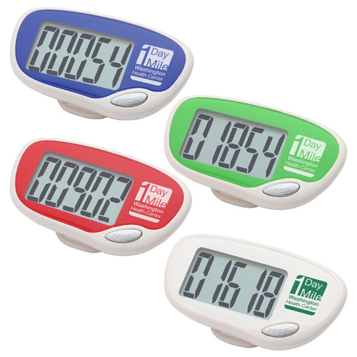 Promotional Easy Read Large Screen Pedometer