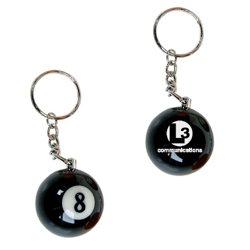 Promotional Eight Ball Key Chain