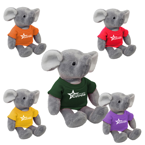 Promotional Elephant Mascot Stuffed Animal