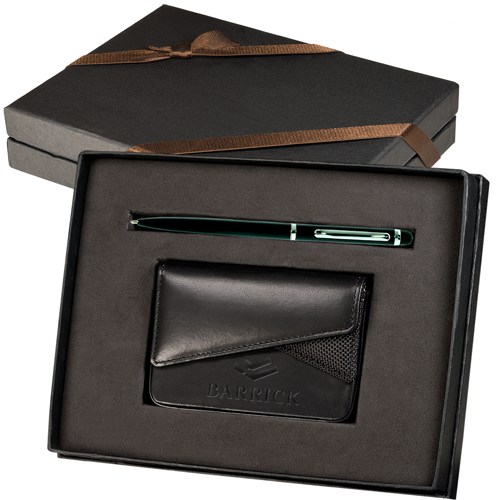 Promotional Fairview Card Case & Stylus Pen Gift Set