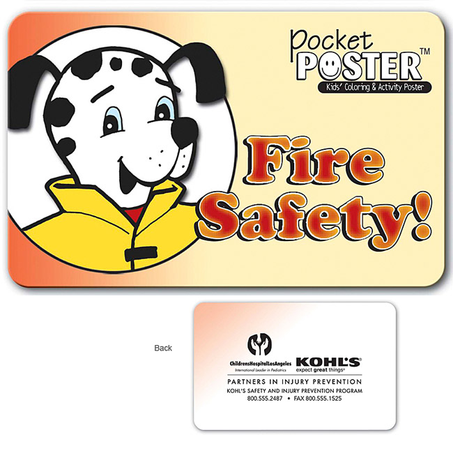 Promotional Fire Safety Pocket Poster