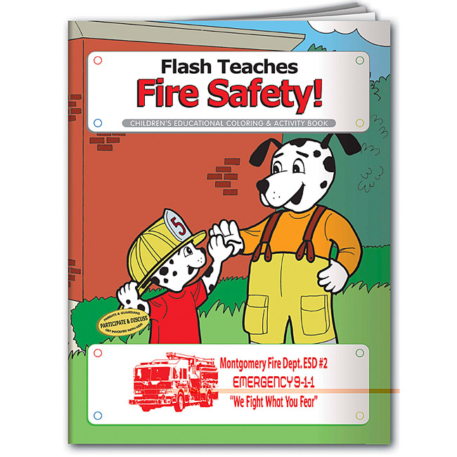 Promotional Flash Teaches Fire Safety Coloring Book