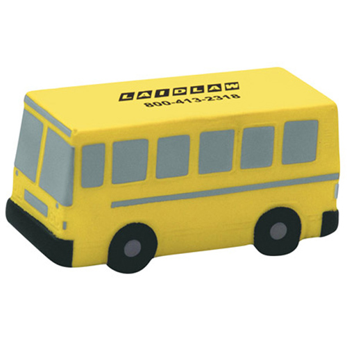Promotional Flat Front School Bus Stress Ball