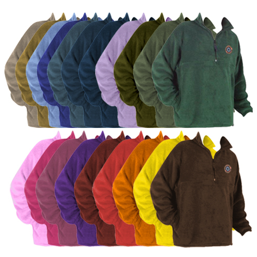 Promotional Fleece Quarter Zip Jacket-USA Made