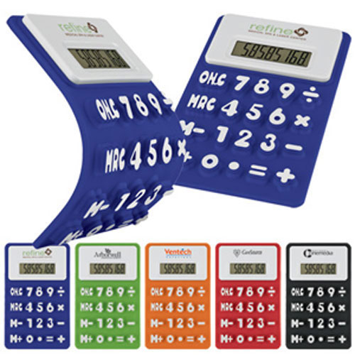 Promotional Flexible 'Press-Me' Colorful Calculator