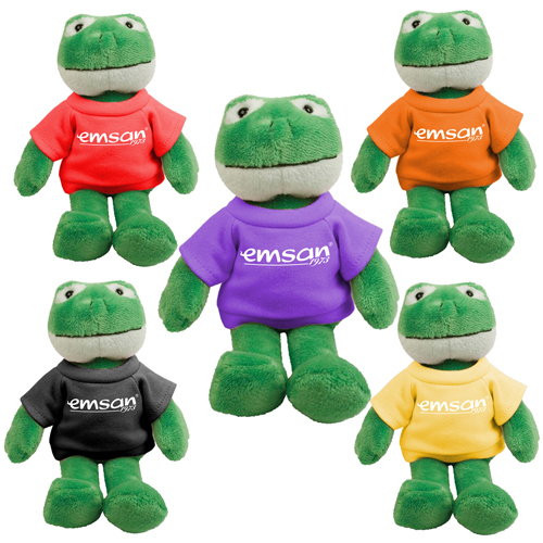 Promotional Frog Mascot Stuffed Animal