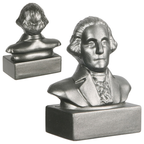 Promotional George Washington Bust Stress Ball