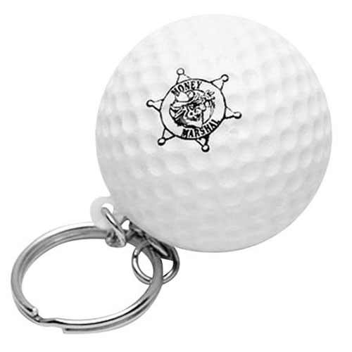Promotional Golf Ball Key Chain Stress Ball