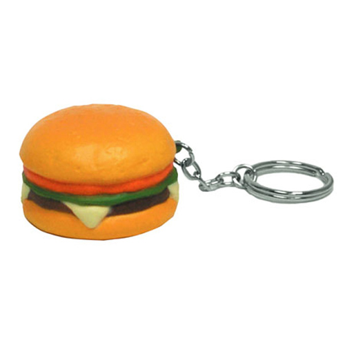 Promotional Hamburger Key Chain Stress Ball