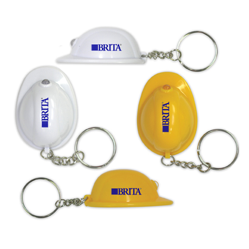 Promotional Hard Hat Flashlight Key Chain