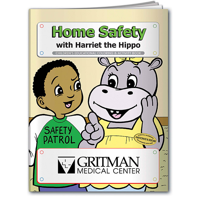 Promotional Harriet the Hippo Home Safety Coloring Book