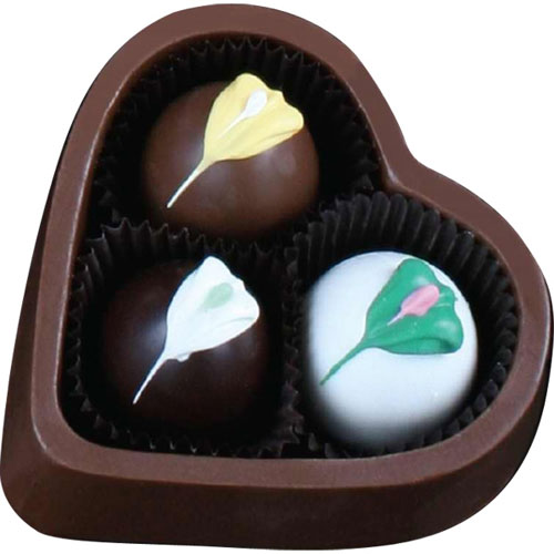 Promotional Heart Chocolate Box with Truffles