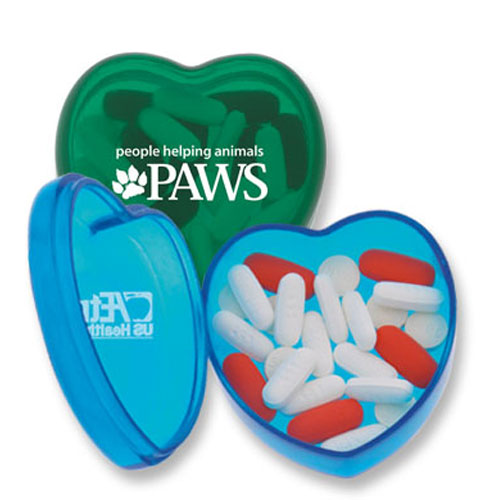 Promotional Heart Pill Box