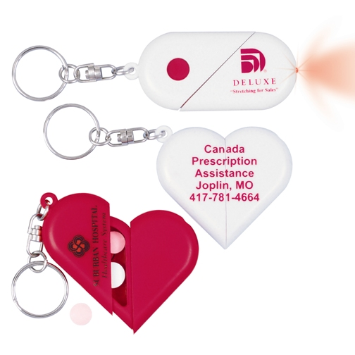 Promotional Heart Pillbox Key Chain