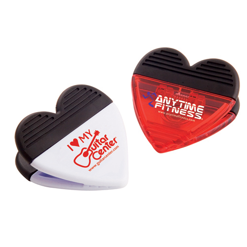 Promotional Heart Magnetic Office Clip