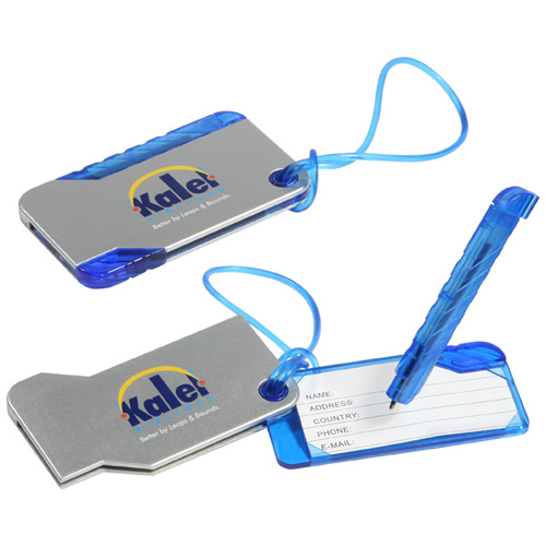 Promotional Hideaway Luggage Tag and Pen