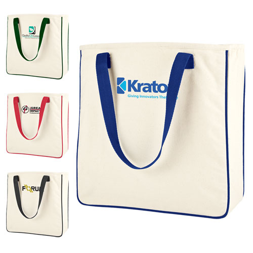 Promotional Hip Cotton Shoppers Tote