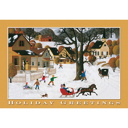Promotional Holiday Greetings Christmas Card
