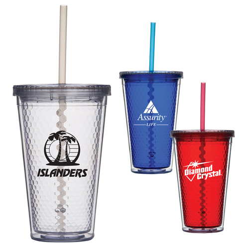 Promotional Honeycomb Cup Tumbler - 16oz