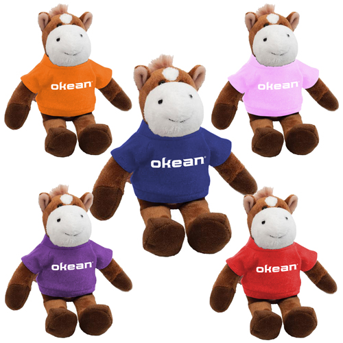 Promotional Horse Mascot Stuffed Animal