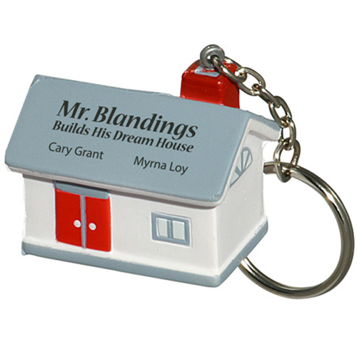 Promotional House Key Chain Stress Ball